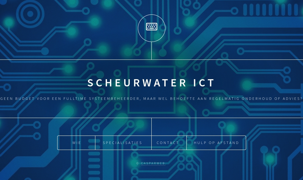 Website Scheurwater ICT